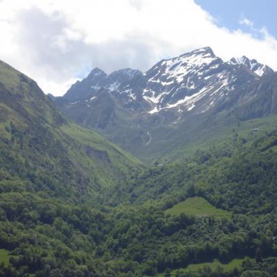 vue montagne  BERGONS  depuis le  gîte